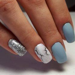 Дизайн зимних ногтей фото