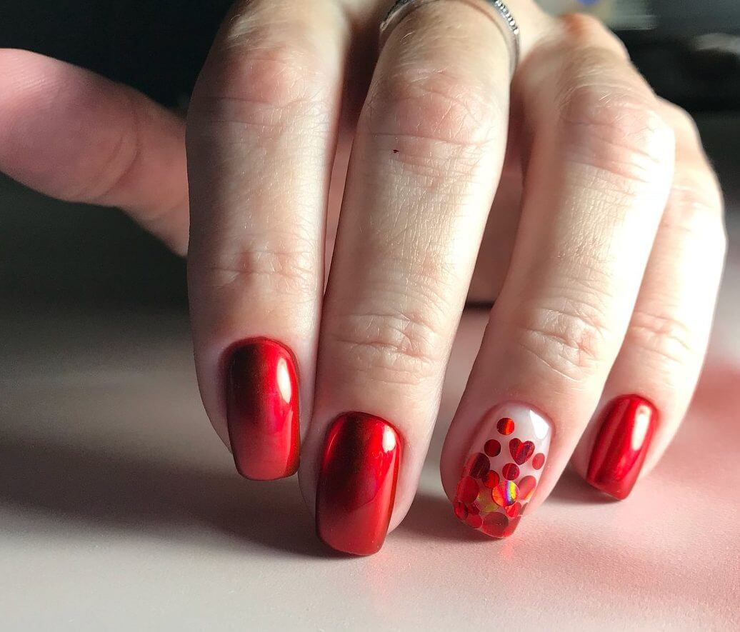 Дизайн красных ногтей новинки 2018 весна