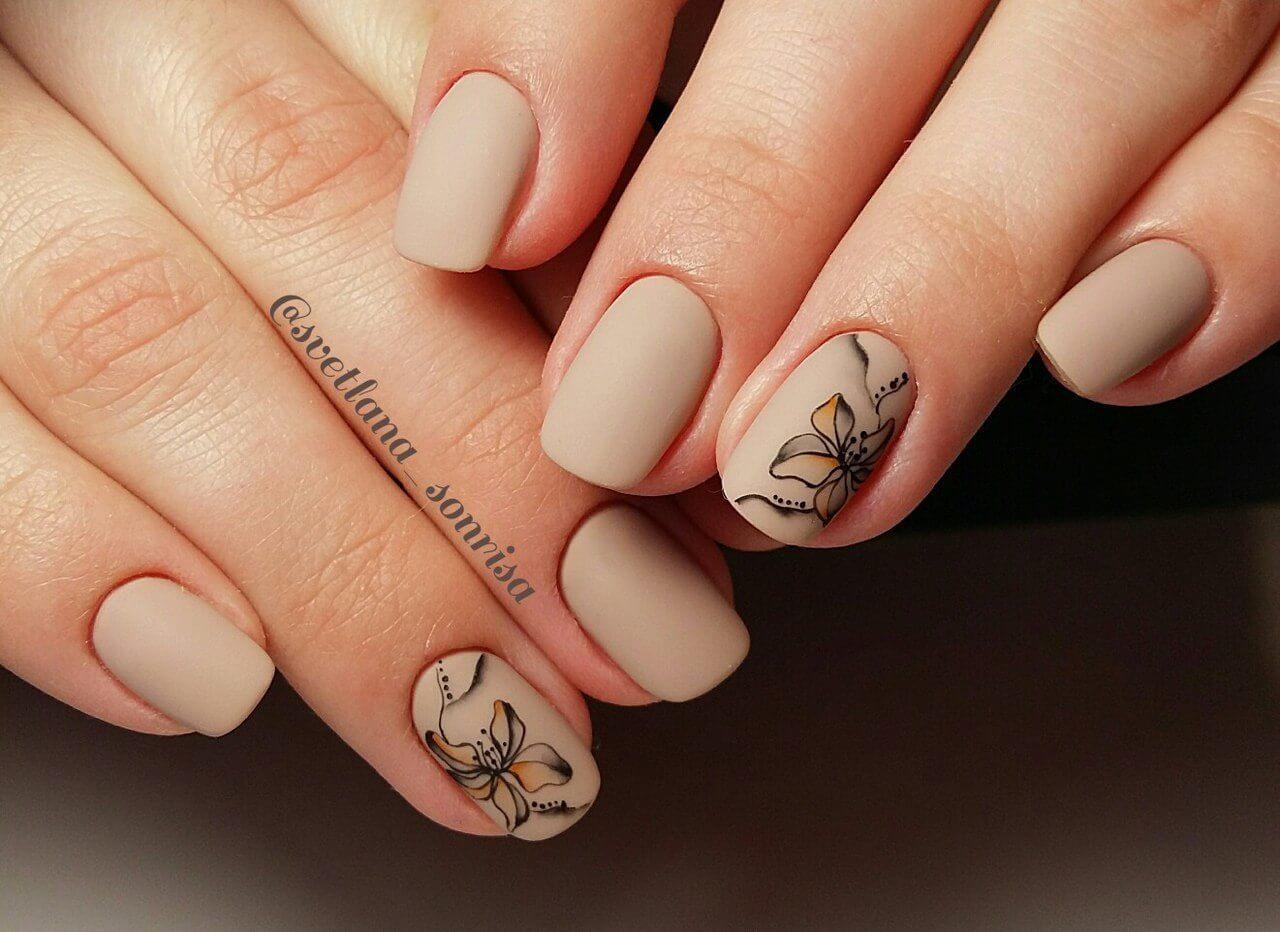 Шеллак матовый фото ногтей с рисунками на короткие ногти