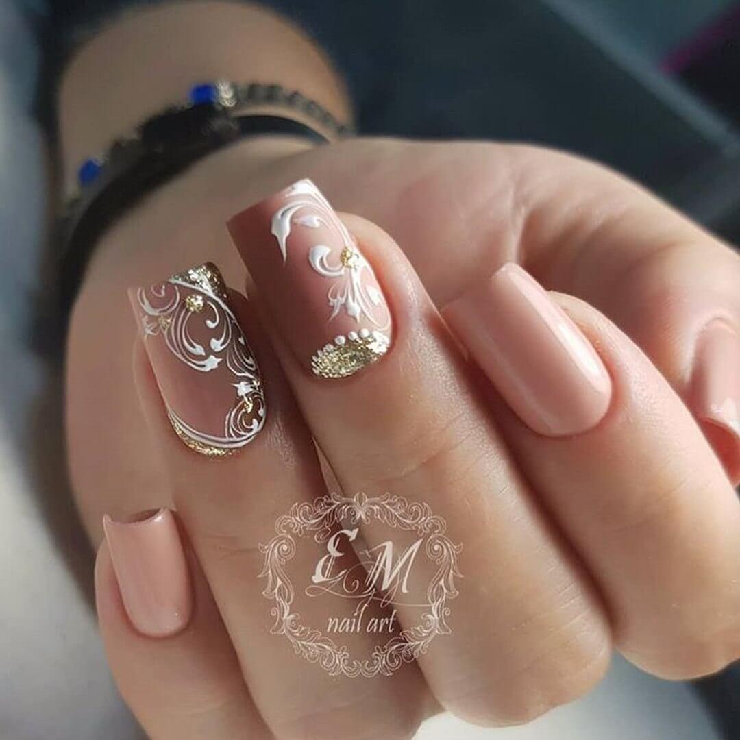 Фото миндалевидных ногтей френч 86