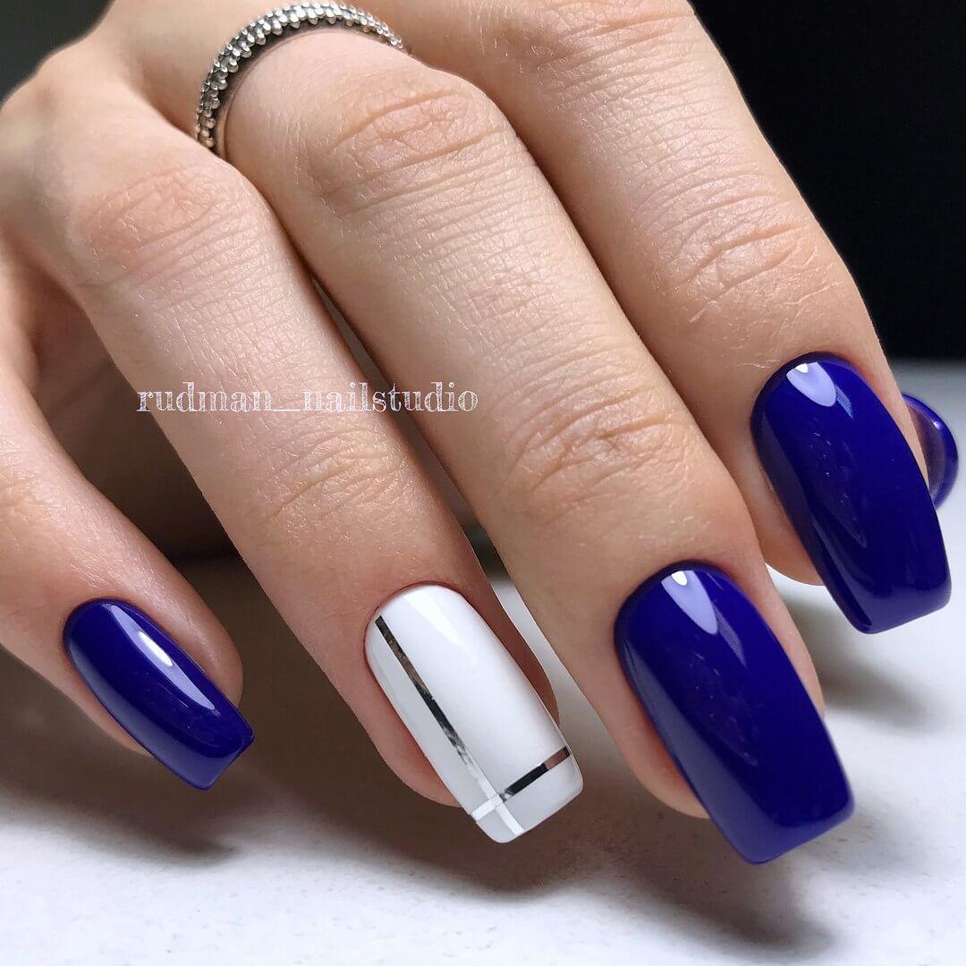 Синие ногти: создание потрясающего праздничного 96