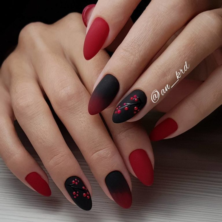 Черно-красный маникюр
