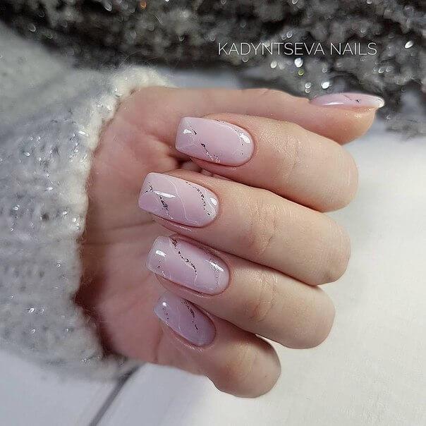 Gel nail art wedding