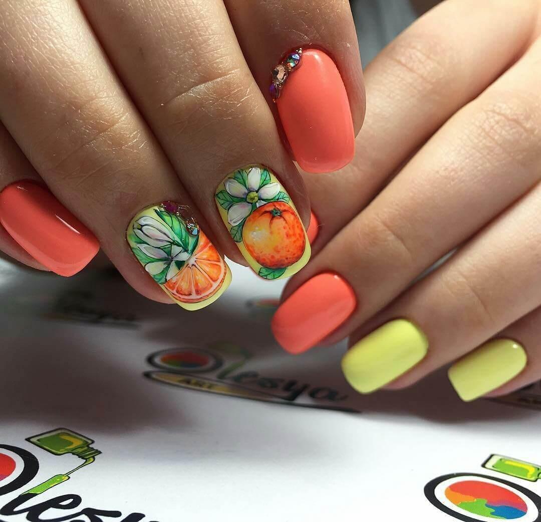 Фото рисунков ярких на ногтях