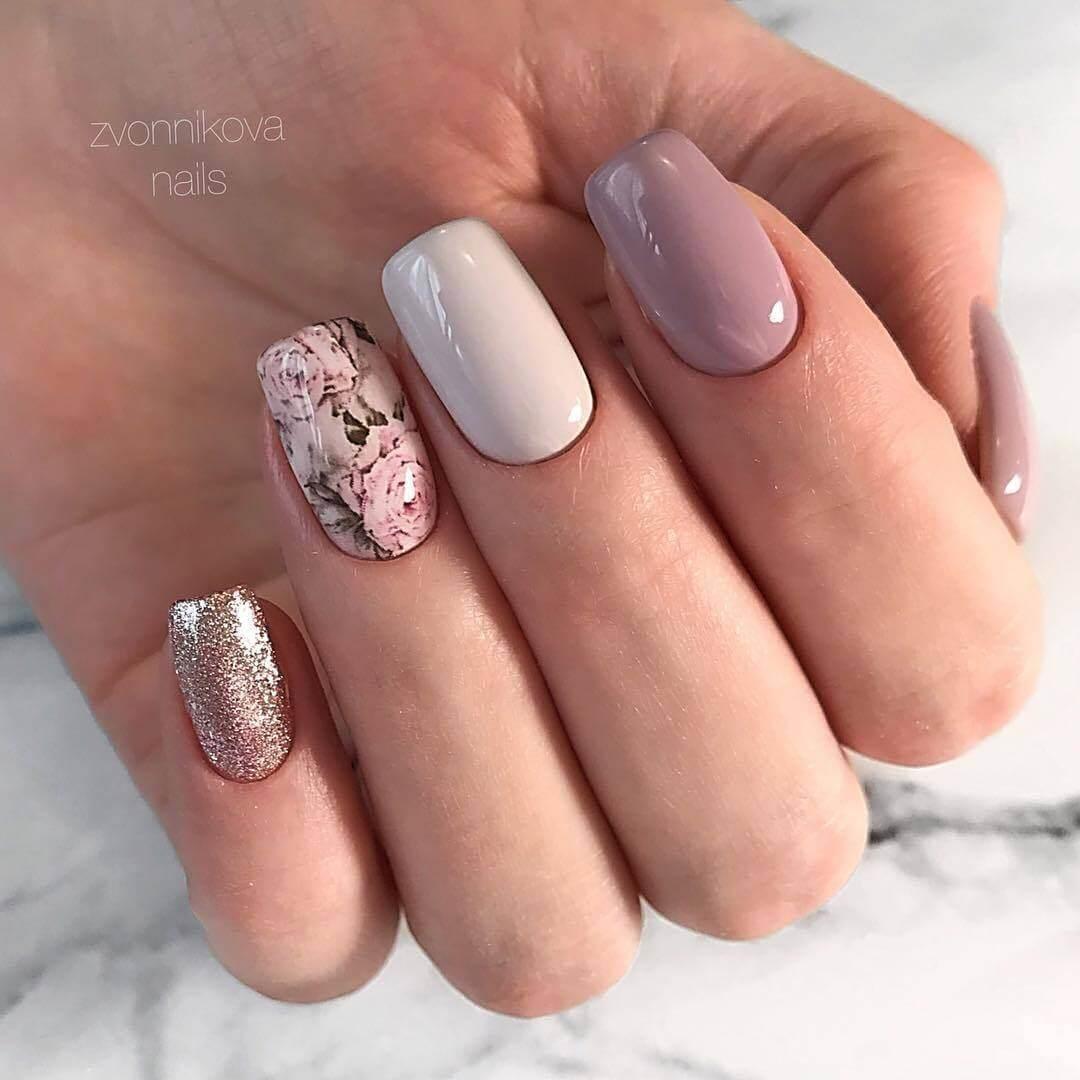 Удивительно дизайн ногтей светлых оттенков