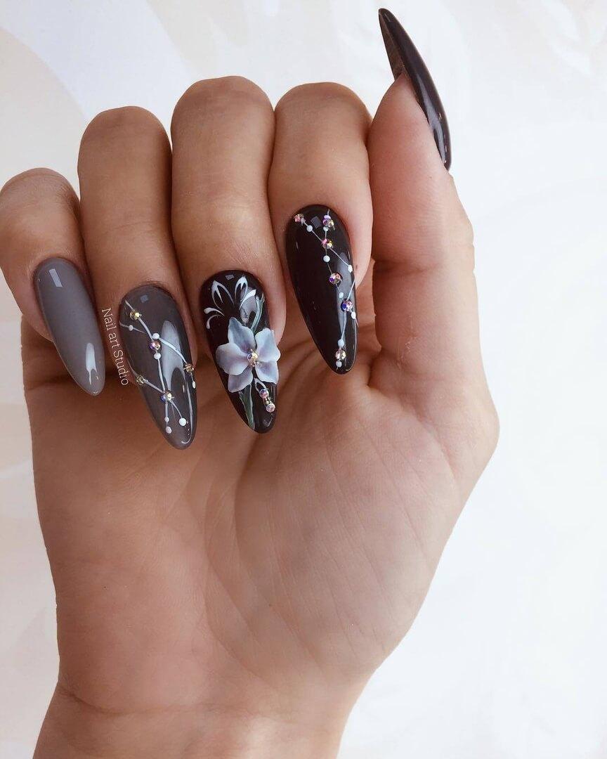 большой дизайн ногтей красивый