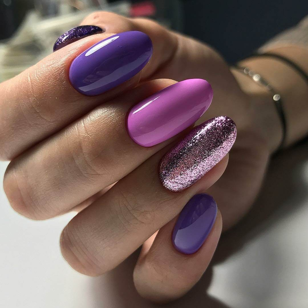 лучшие дизайн ногтей в два цвета фото судя