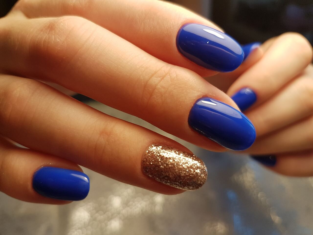 Синий гель-лак - фото идей дизайна ногтей - Best Маникюр