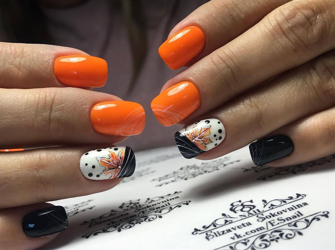 Маникюр осень - фото идей дизайна ногтей